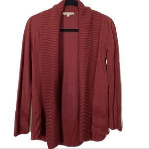 Joan Vass Burgundy Cardigan Size Small